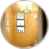 EIIDJFF Schminkspiegel Mit Licht Tischspiegel Runder rahmenloser Badezimmerspiegel Wandmontierter Schminktischspiegel (Größe: 38 x 38 cm) 601