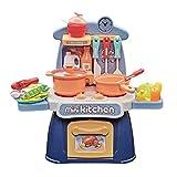 Jaimenalin Kinder KüChe Spielset KKChe Rollenspiel Spielzeug Simulation Rolle Spielen KüChen Spielzeug für MMDchen und Jungen Geschenke - Blau