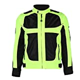 SZTUCCE Warnwesten Männer Atmungsaktive Kleidung Motorrad Racing Reflektierende Kleidung Kompletter Schutz für Jacken Sommersicherheit (Size : M)