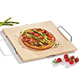 neuetischkultur Pizzastein mit Gestell Grillstein Pizzabrett Steinbrett