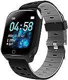 C-B-TO Fitness-Tracker mit buntem Bildschirm, Sportarmband, Smartwatch, Schrittzähler, Aktivitätstracker, Bluetooth, für Android und iOS