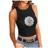 XUNN Damen Tank Tops Sexy Mode ärmelloses Basic Cami Top Shirt Slim Knit Gerippte Racerback Bluse Frauen Oberteil