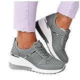 Roselan Damen Low-Top Sneaker, Frauen Halbschuhe,Einlage Plateau Schnürer Sneakers Schuhe Fitnessschuhe Flache Turnschuhe Laufschuhe Freizeitschuhe