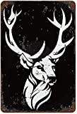 Best Cool Deer Head Elk King, Vintage Metall Zinnschild Wanddekoration Kunst 15,7 'x 11,8' Familiencafé Wanddekoration