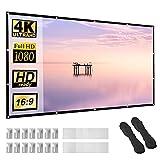 Beamer Leinwand 100 Zoll 16:9 HD Faltbarer Bildschirm für tragbare Anti-Falten-Projektionsfilme für Heimkino-Außenunterstützung Doppelseitige Projektion 220x124cm