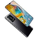 P40 Pro Handys, 4G Android 10 DUAL SIM Free Smartphone, 8 GB RAM + 256 GB ROM, 5000 Mah Batterie, Dreifache Kartenfächer, Quad Rückfahrkamera, 6.6 Inch, Face ID, Fingerabdruck,Schwarz