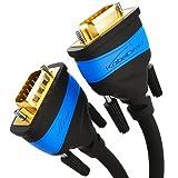 KabelDirekt – 1,5 m – VGA-Kabel (15-polig, Full HD/1080p, 3D-fähig, VGA-Stecker auf VGA-Stecker, verbindet PCs mit Monitoren/Röhrenbildschirmen/Fernsehern, vergoldete Kontakte, schwarz)