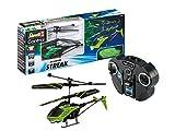 Revell Control 23829 RC Helicopter Streak, Hubschrauber mit 2-Kanal IR-Fernsteuerung, Indoor, mit Glow-in-The-Dark Effekt Ferngesteuerter Heli, grün