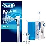 Oral-B Oxyjet Munddusche für gesünderes Zahnfleisch, mit Mikroluftblasen-Technologie, 4 Ersatzdüsen, weiß/b