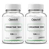 2X OstroVit Creatine | 120 Kapseln je Packung hochdosiert | Kreatin Kraftzuwachs Muskelaufbau Supplement | Nahrungsergänzungsmittel