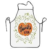 AOOEDM Apron Schnörkel und Herzform Zierkürbis Druck Schürze Home Lätzchen Schürze für Frauen Männer Mädchen Kinder Geschenke Küche Dekoration Co.