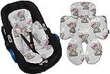 GaGaDumi Sitzverkleinerer aus Baumwolle - universell für alle Babysitze, Autositze, Kinderwagen und Hochstühle - hypoallergen (W6)