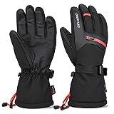 Cevapro Skihandschuhe Warme Winterhandschuhe wasserdichte Snowboard HandschuheTouchscreen Handschuhe für Herren Frauen zum Wintersport wie Skifahren Motorradfahren Fahrradfahren (L)