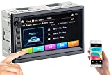 Creasono DIN2 Radio: 2-DIN-MP3-Autoradio mit Touchdisplay, Bluetooth, Freisprecher, 4X 45 W (Autoradio Doppel DIN)