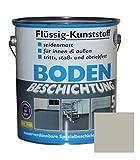 Flüssig Kunststoff 5L Bodenbeschichtung 50m² Betonfarbe Beton Beschichtung (Kieselgrau)