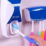 N\C Zahnbürstenhalter Badezimmer Auto Zahnpastaspender + 5 Zahnbürsten Organizer Wandhalterung Ständer Badezimmerzubehör