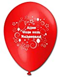 BWS - Verkauf durch luftballonwelt 10 Luftballons Alles Gute zum Ruhestand, bunt sortierte Mischung, ca. 30 cm