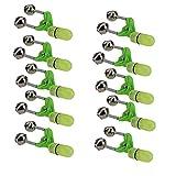Runfun Angel Glocke Bissanzeiger Clamp LED Doppel Glocken Heller bewegliches Zubehör für Nacht Meer Angelgerät Grün 10PCS