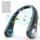 Tragbarer USB Ventilator,Mini Blattlos Ventilator,Starker Akkulaufzeit Ventilator,Leise,Wiederaufladbar,3 Geschwindigkeiten Nackenbügel Ventilator,für Schlafen, Büro, Campen, Grillen,Reisen