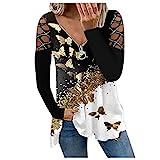Sweatshirts Damen Lange Ärmel Pullover Winter mit V-Ausschnitt Vintage Streetwear Oversized Bunter Cartoons Mädchen Sportbekleidung Sweatshirt Top Tee