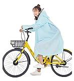 liutao Regenponcho Fahrrad Mode Outdoor Regen Mantel Frauen Bedeckt Transparente Eva Mädchen Fahrrad Regenmantel Reisen wasserdichte Regenbekleidung Erwachsene Poncho mit Kapuze Fahrradregencape