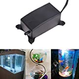 Sysow Sauerstoffpumpe für Aquarium, Hydroponisch, Belüfter, Oxygen Pumpe, Superleise Aquarium Wasserpumpe Luftpumpe 2W Leistungsstark Sauerstoffpumpe 1.2L/M Geeignet für Fischbecken und N
