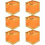 Sicher 6PCS Schwimmlaternen Unsinkable Platz Wishing Wasser Papierlaternen Schwimmkerzen beleuchtet for Festival-Hochzeit, Geburtstag, Weihnachten Jahrestag ( Color : Orange , Size : 15*15CM )