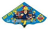 Paul Günther 1217 - Kinderdrachen mit Feuerwehrmann Sam Motiv, Einleinerdrachen aus robuster PE-Folie für Kinder ab 4 Jahren mit Wickelgriff und Schnur, ca. 115 x 63 cm groß