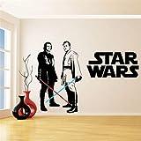 wandaufkleber 3d Wandtattoo Wohnzimmer Star Wars Vinyl Wandaufkleber Für Kinderzimmer Dekoration Obi Wan Kenobi & Anakin Skywalker Lichtschwert Wandtattoo Schlafzimmer Dekor