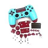 SHEAWA Ersatz-Gamepad-Gehäuse für PS4-Controller, Berry Blue