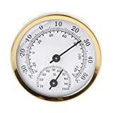 GUMEI Indoor Analog Thermometer Hygrometer Luftfeuchtigkeit Temperaturanzeige 58mm H
