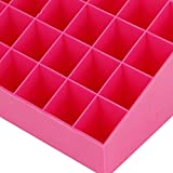 Make-up-Aufbewahrungsbox 36 Grids Lippenstift-Ausstellungsstand Lippenstift-Haushalt für Desktop(Pink)