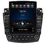 ADMLZQQ Android 10 Bluetooth-Autonavigation GPS-Navigation Host Vertikaler Bildschirm Stereo-Player Multimedia-Player Radio FüR 2003-2007 Honda Accord 7, mit WiFi/Bt/Fm/SWC