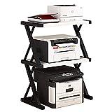 GAXQFEI Print Racks Drucker Regal-Desktop-Kopie Büro-Speicher-Doppelregal Creative-Regale Fax-Maschine Standschalter-Organizer Für Home Office-Desktop-Ständer Für Drucker,B