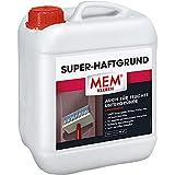 MEM Super-Haftgrund, Intensive Untergrundhaftung, Für saugende und nichtsaugende Untergründe, Lösemittelfrei, 5 l, Weiß