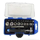 AMAZOM Werkzeugsatz, Kleiner Steckschlüsselsatz, Mit Schnellspann-Umschaltknarre, Metrisch, Mechanik-Werkzeugsätze Für Reparatur & Haushalt
