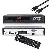 MK Digital S2-HD HDTV Receiver Satellit DVB S2 HD Receiver für SAT Digitaler Satelliten SAT Receiver (DVB-S/S2, HDMI, SCART, 2X USB 2.0, Full HD 1080p) (Vorprogrammiert für Astra Hotbird und Türksat)