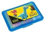 Idena 68125 - Knetebox mit 20 Stangen bunter Knete, in blauer Aufbewahrungsbox, lustiger Knetspaß fü