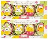 Oster-Geschenk aus Schokolade | Pralinen-Eier | Osterhase | Küken | 2x60g
