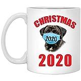 Funny Quarantine Christmas 2020 English Mastiff Brindle Gift For Pet Lovers White Mug 11 O