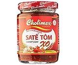 Cholimex Garnelen-Satay-Sauce XO 170 g – hat den fettigen Geschmack von Öl, würzigem Aroma, charakteristisch für Chili, Knoblauch und Zitronengras, macht das Gericht schmackhafter und köstlicher.