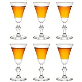 Libbey Schnapsglas Georgian Sherry - 60 ml / 6 cl - 6 Stück - Sherryglas - Portweinglas - mit Fuß - einzigartiges Glas - spülmaschinenfest