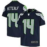 HAOBIN Metcalf #14 DK Seattle American Football Jersey Seahawks für Jungen, farbecht und formstabil, Marineblau