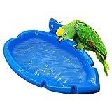 Vogel-Badewanne Für Papageien, Vogel Feeder Schüssel Kleine Vogel Bade Box Papagei Dusche Vogelkäfig-Zubehör Kunststoff Badewanne Für Vögel, Papageien, Wellensittiche Vogelkäfig Dusche Zubehör