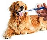 Tablettengeber Haustier Tablette KapselFeeder Katze Hund Welpen Tabletteneingeber Wiederverwendbar Fütterungshilfe Pillendose Aufzuchthilfe Medizinisch Flüssigkeit Feeder mit Weicher Spitze (Blau)