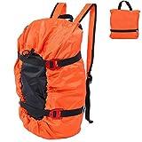 VGEBY1 Kletterseil Tasche, Faltender Wasserdichter Seiltasche Kletterausrüstung Tragetasche Climbing Rope Bag Sporttasche Werkzeugsack Stabil Seilsack Rucksack(Orange)