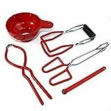libelyef 5-teiliges Dosen-Set, Einmachglas-Hebewerkzeug, inklusive Trichter, Deckelheber, Glasheber, Schraubenschlüssel, Zange, für sicheres schnelles Ö