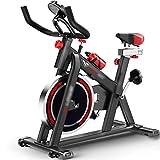 Fitnessbikes Fitness fahrrad fur zuhause Indoor Training Gewichtsverlust Spinning Bike,Leises Fahrrad im Büro,Einstellbare Fitnessgeräte,Kann 150 kg tragen ( Color : Black , Size : 97*50*103-119cm )