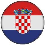 FanShirts4u Button/Badge/Pin - I Love KROATIEN Fahne Flagge HRVATSKA CROATIA (Kroatien/Flagge)