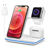 Wireless Charger XS MAX/XR/X/8/Apple Watch 6/5/4/3/2/1/Air.pods und Qi-fähige Geräte (Purple)